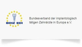 Logo des Bundesverbandes der implantologisch tätigen Zahnärzte in Europa e.V.