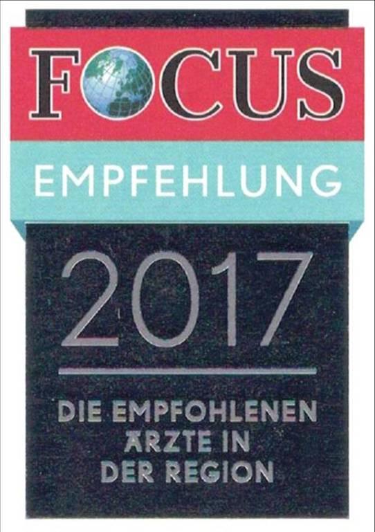 Logo Focus Gesundheit Empfehlung Ärzte der Region Hessen