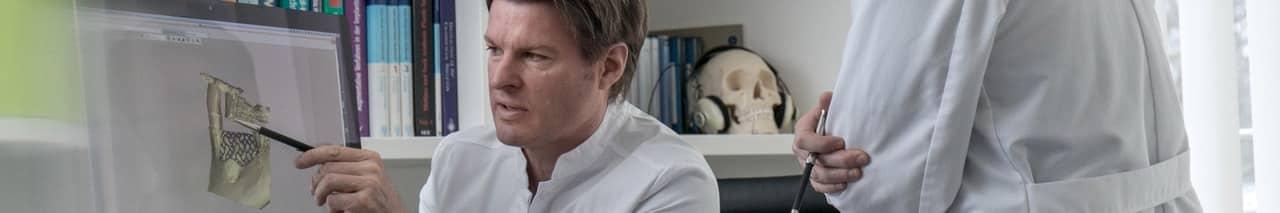 Implantologie mit 3D-Modell in Frankfurt | groisman & laube