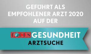 Vom Focus Empfohlener Arzt 2020 - Dr. Laube