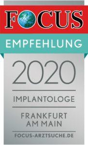 Focus Empfehlung Implantologie - Dr. Laube Frankfurt am Main