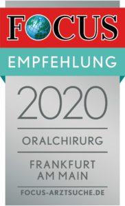 Focus Empfehlung Oralchirurgie - Dr. Laube Frankfurt am Main