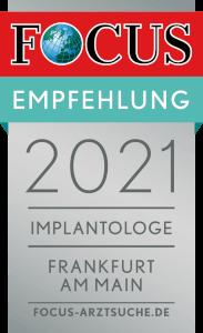 Focus Siegel Implantologie Frankfurt 2021
